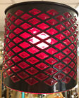 Unique Vintage Red Diamond Shaped Glass Lampshade Originally From Amsterdam