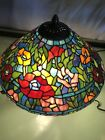 Beautiful Tiffany Style Stained Glass Table Lamp 16 Tall