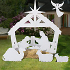 4ft Christmas Holy Family Nativity Scene Outdoor Yard Decoration w PVC for
