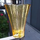 Fire And Light Recycled Glass Citrus Aurora Vase SIGNED