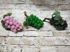 Vintage Mid Century Hand Blown Italian Murano Glass Grapes in Cluster lot of 3