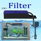 3 in1 Aquarium External Water Filter + Pump Trickle Upper Box Fish Tank