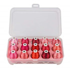 Simthread Machine Embroidery Thread with Storage Box Polyester 15 Spools Set for