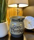 Scentsy Original GIVE THANKS Full Size Wax Warmer Rustic Holiday Retired Rare