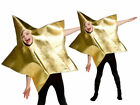 Nativity Play Gold Star Costume Christmas Kids Fancy Dress Outfit One Size