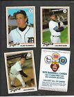 Detroit Tigers 1978 Burger King Team Set 22 NM MT cards Trammell Whitaker Morris