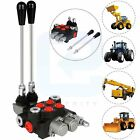 2 Spool 21GPM Hydraulic Control Valve Acting Cylinder Tractor Loader W Joystick