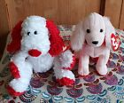 2003 2004 TY Beanie Babies Of The Month Adonis & Sonnet Pink Dog Plush Soft Toy