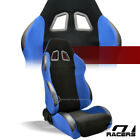 Universal 1pc Sp Blackblue Simulated Suede Racing Bucket Seat Passenger G22v