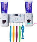 Toothbrush Holder With Double Combination Automatic Toothpaste Dispenser