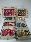 96 Vintage 1960s USA Glass Christmas Small Ornaments in Shiny Brite Boxes