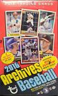 2016 TOPPS ARCHIVES BASEBALL FACTORY SEALED HOBBY BOX 2 AUTOGRAPHS SEAGER RC YR