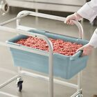 6 Pack Commercial Meat Lug 15 x 25 x 8 Storage Food Tote Processing Tub Bin