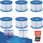 6 Pack Hot Tub Filter Cartridge Size VI for Bestway Lay Z Spa Coleman SaluSpa