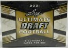 2021 Leaf Ultimate Football Draft Factory Sealed Hobby Box 5 Autographs Per Box
