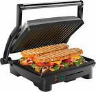 Panini Press Grill and Gourmet Sandwich Maker Non Stick Coated Plates