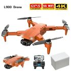 L900 Pro 4k Hd Dual Camera With Gps 5g Wifi Fpv Rc Drone Foldable Quadcopter New