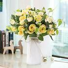 YUYAO Artificial Flowers Rose Bouquets with Vase Fake Flower with Ceramic Va