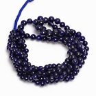 Blue Sapphire Glass Filled Stone Round Smooth Beads 3 Lines Strand Bunch SS 164