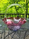 Fenton Glass Mulberry Basket NEVER BEEN USED
