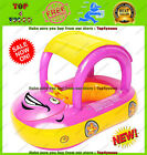 Inflatable Baby Swim Toddler Float Swimming Pool Water Seat Canopy Boat Pink
