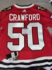 ADIDAS AUTHENTIC COREY CRAWFORD AUTO JERSEY!! WITH BECKETT COA!!!