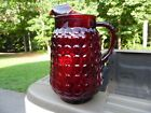 Vintage Anchor Hocking Royal Ruby Red Bubble Glass Pitcher