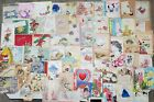 LOT 1 74 Vintage Used Scrapbook Greeting Cards for Crafts Christmas Birthday