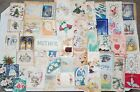 LOT 2 56 Vintage Used Scrapbook Greeting Cards for Crafts Christmas Birthday