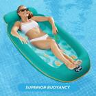 Inflatable Pool Floats Lounger Chair Person Adult Integrated Head and Footrests