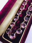 Vintage Purple Open Back Riviere Crystal Glass Necklace