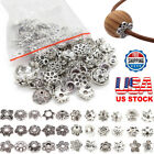 Wholesale Mixed 1500pcs Tibetan Silver Flower Bead Caps For Jewelry Making DIY r