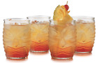 Libbey Tiki Double Old Fashioned Clear Glass Set of 4 Modern Bar 16 oz