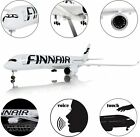 18 1142 Airplane Model FINNAIR Airbus A350 Diecast Aircraft with LED Light Toy