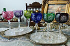 Vintage German Nachtmann Cut to Clear Crystal Wine Glasses