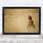 And It Was All Yellow Tibet Tibetan Plateau Person Smile Happy Wall Art Print