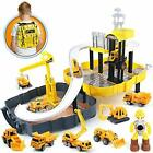 Construction Toy Trucks 40 PCS Engineering Construction Site with 6 x Die Cast