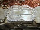Gorgeous Vintage Etched Crystal Divided Relish Dish Fostoria Corsage