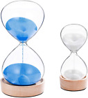 Suliao 60 Minute Hourglass Sand Timer 5 Minute Set Large Blue  White Sand Cloc