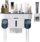 Toothbrush Holder With Automatic Toothpaste Dispenser And Tissue Storage Box