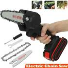 Cordless Electric Chainsaw Mini Handheld Wood Cutter Saw Woodworking + Battery