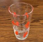 Crate and Barrel Hand Blown 16 Ounce Clear Glass w Goldfish Tumbler Discontinue