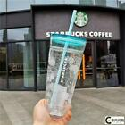 Starbucks Tumbler Korea blue cloudy Double Glass sippy Straw Cup Limited Edition