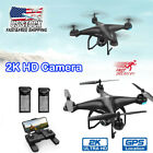 Holy Stone HS120D With 2K HD Camera FPV RC Drone GPS Quadcopter Follow Me