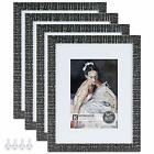 Hongkee 8x10 Picture Frame set of 4 Made of High Assorted Sizes  Colors