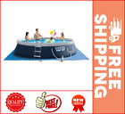 Intex 15 x 42 Easy Set Inflatable Above Ground Swimming Pool with Ladder Pump