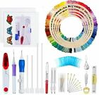 Cross Stitch Embroidery Kits Full Set Including Needle Punch Magic Embroide
