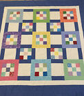 Quilt Top Colorful  Blue 56 X 56 Bed Baby Couch Table Decor PiecedUSA