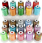New Brothread 25 Colors Variegated Polyester Embroidery Machine Thread Kit 500M