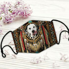 Dalmatian In American Native All Over Print Adjustable Mask